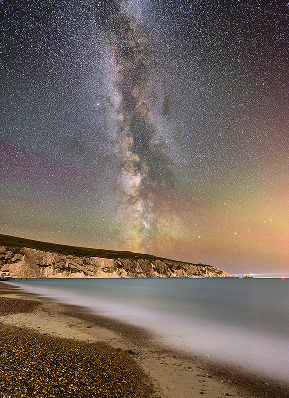1585 Milky Way The Needles - Alum Bay and The Needles landscapes
