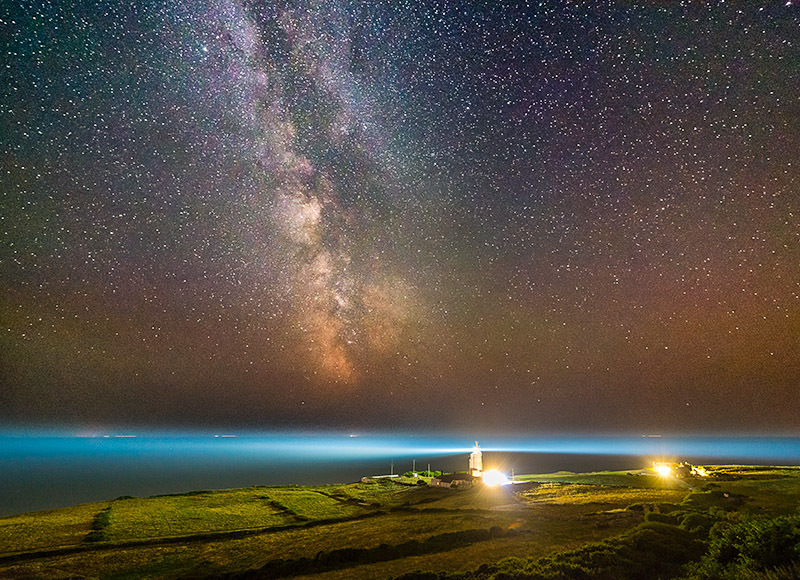 1426 The Milky Way St Catherines Lighthouse - The Isle of Wight at Night landscapes