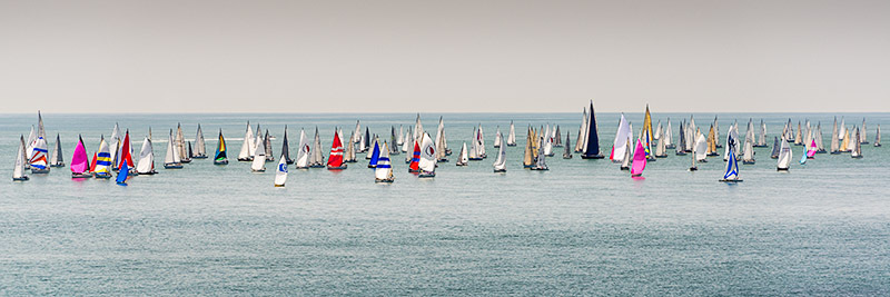 1625 Round the Island Race - St. Catherine's Point panoramics