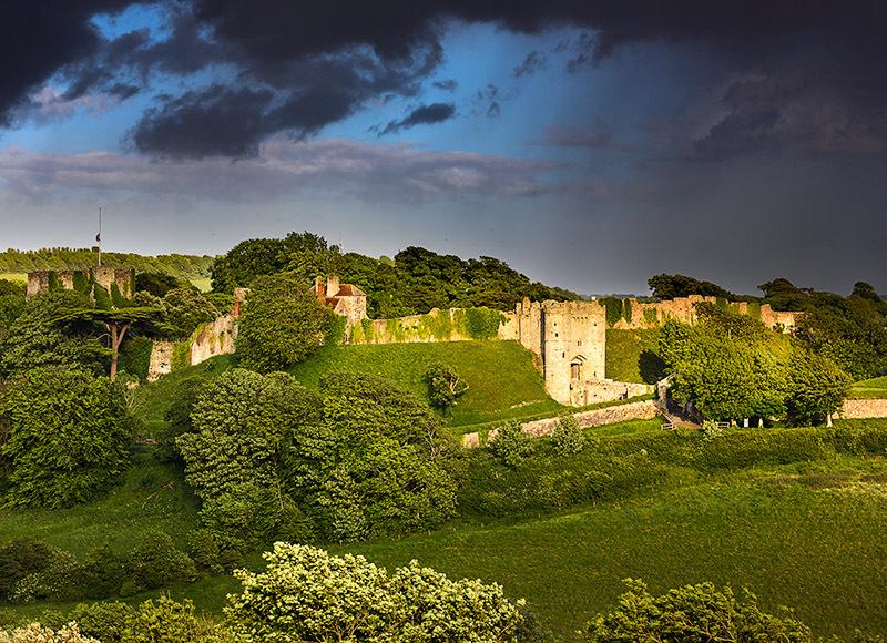 1872 Storm over Carisbrooke Castle - Cowes, Newport and Carisbrooke landscapes