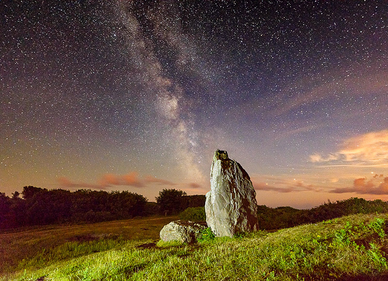 1690 Milky Way The Longstone - The Isle of Wight at Night landscapes
