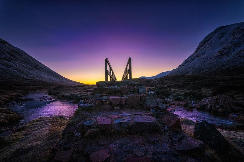 purple bridge - Scottish landscapes