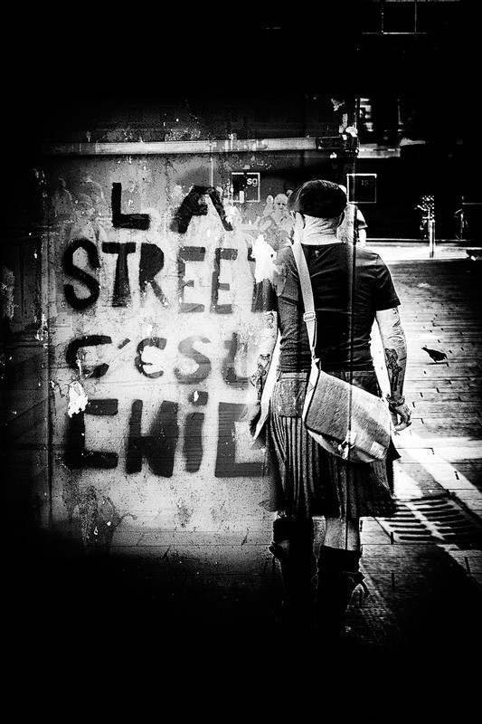 La Street - Black and White