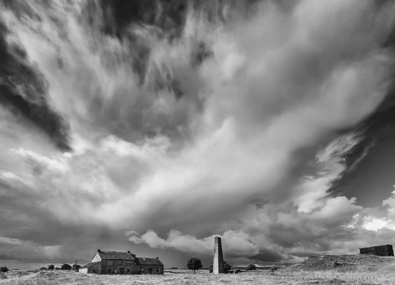 Storm Approaching Magpie Mine, Derbyshire - Derbyshire, Dorset, Kent, & Leics