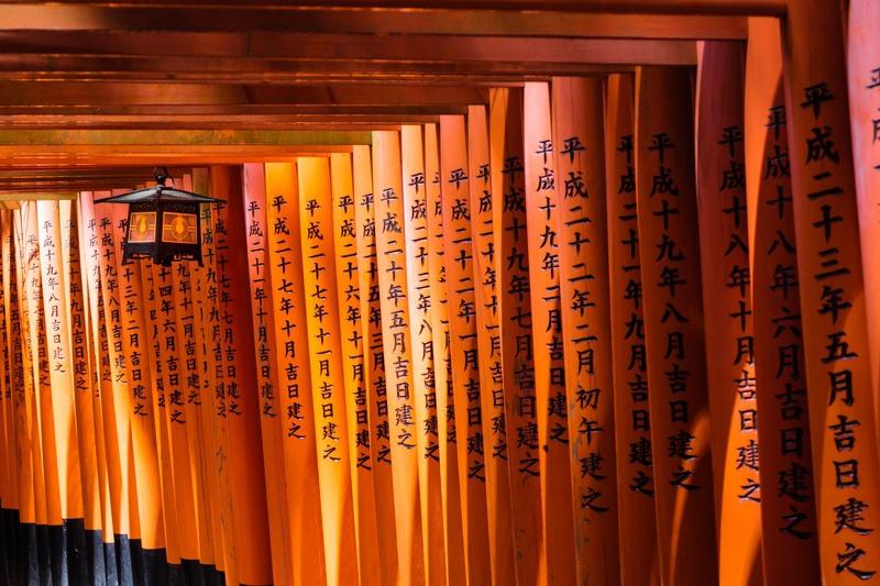 Torii at Fushimi Inari Shrine, Kyoto, Japan - Japan