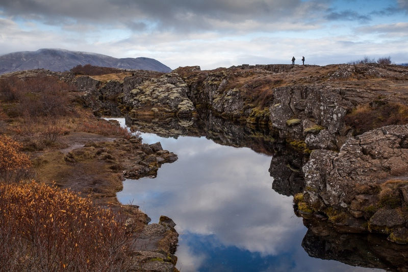 Fissure at Thingvellir, Iceland - Iceland