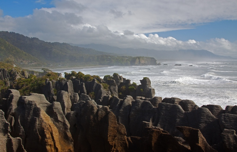 Pancake Rocks, South Island, New Zealand - New Zealand