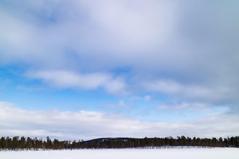 Frozen Lake, Finnish Lapland - Finland