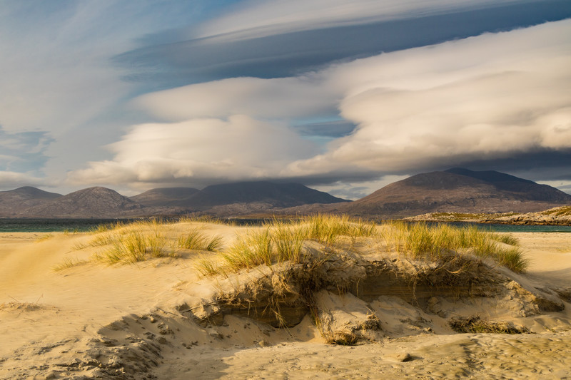 Lenticular Clouds Over the Hills of Harris - Scotland