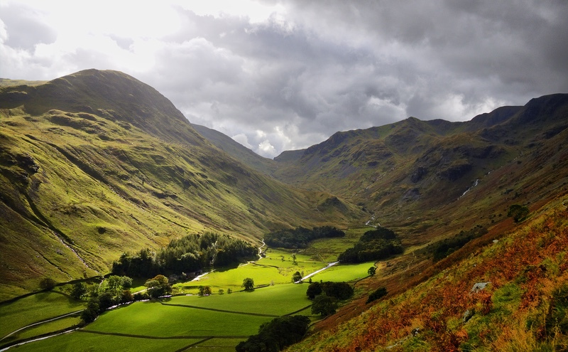 A Ray of Sunshine in Grisedale - The Lake District