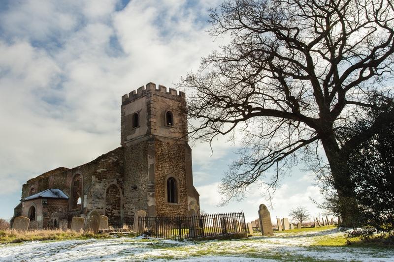 The Ruined Church at Segenhoe, Bedfordshire - Beds, Bucks, Cambridge, & Cornwall