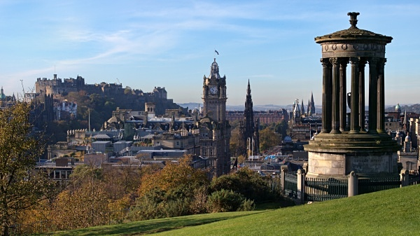 View of Edinburgh from Calton Hill, photographed by Roger Butterfield.