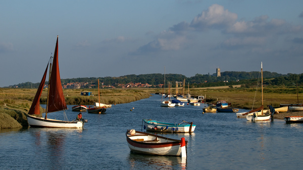 Morston Creek photographed by Roger Butterfield