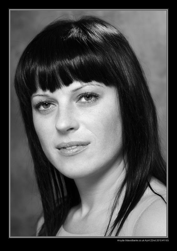 100422-Alvyda-1165-BW - Portraits