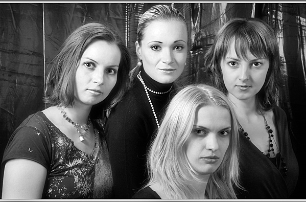 The 4 of them- Serious! - Portraits