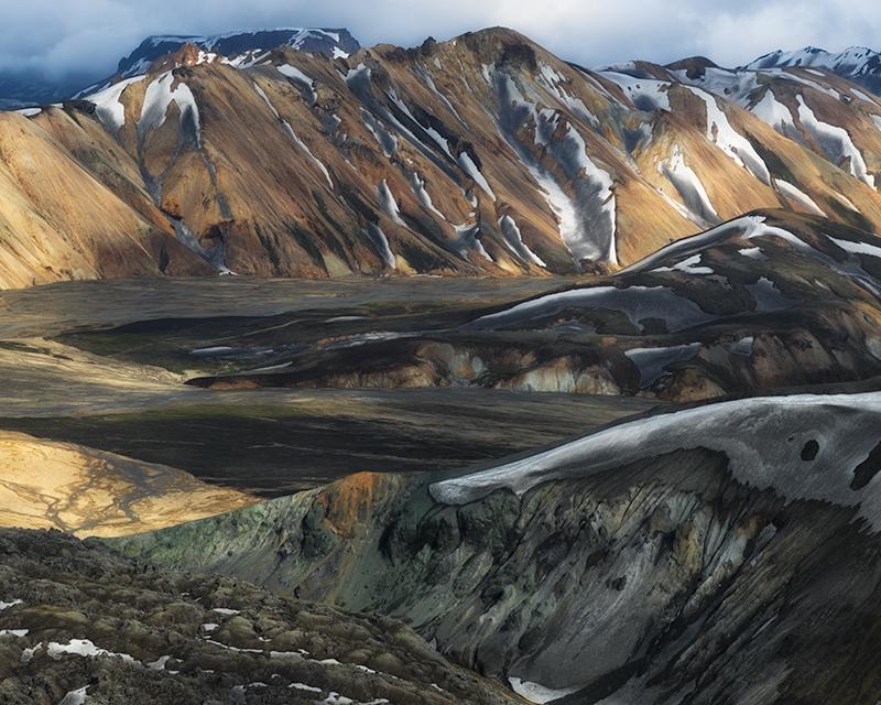 Landmannalaugar aerial study #5 - Iceland Highland Aerials