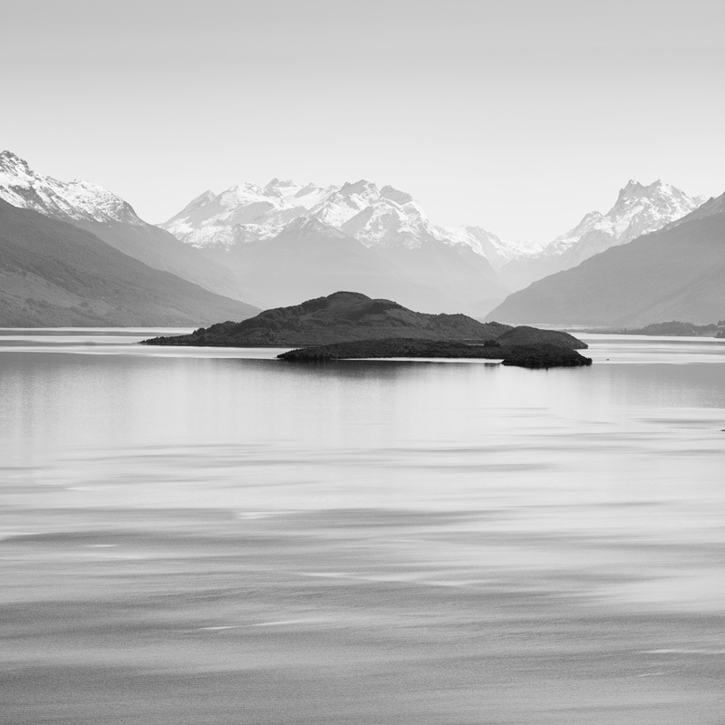 Pig and Pigeon Islands, Lake Wakatipu - Black and White