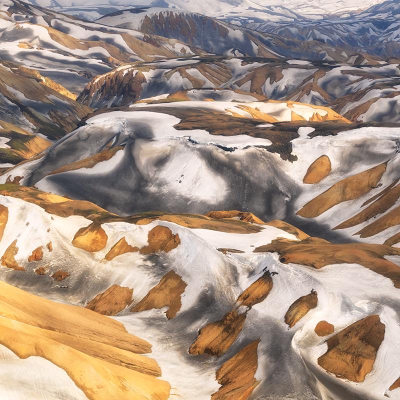 Landmannalaugar aerial study #7 - Iceland Highland Aerials