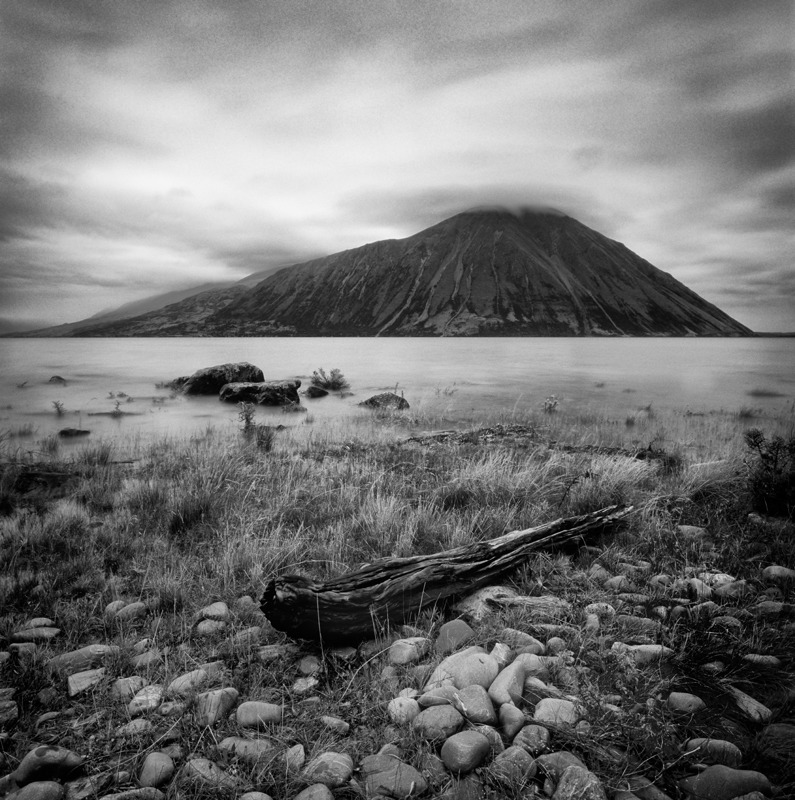 Lake Ohau dawn - Black and White