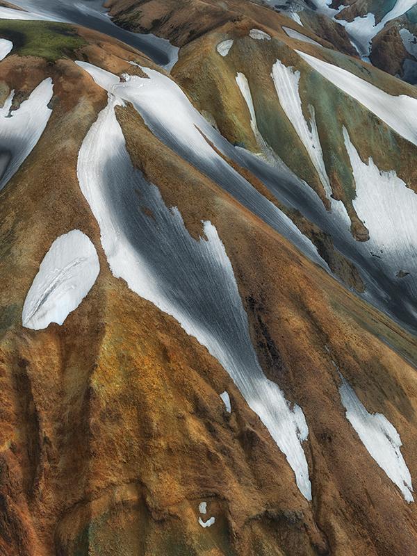Landmannalaugar aerial study #9 - Iceland Highland Aerials