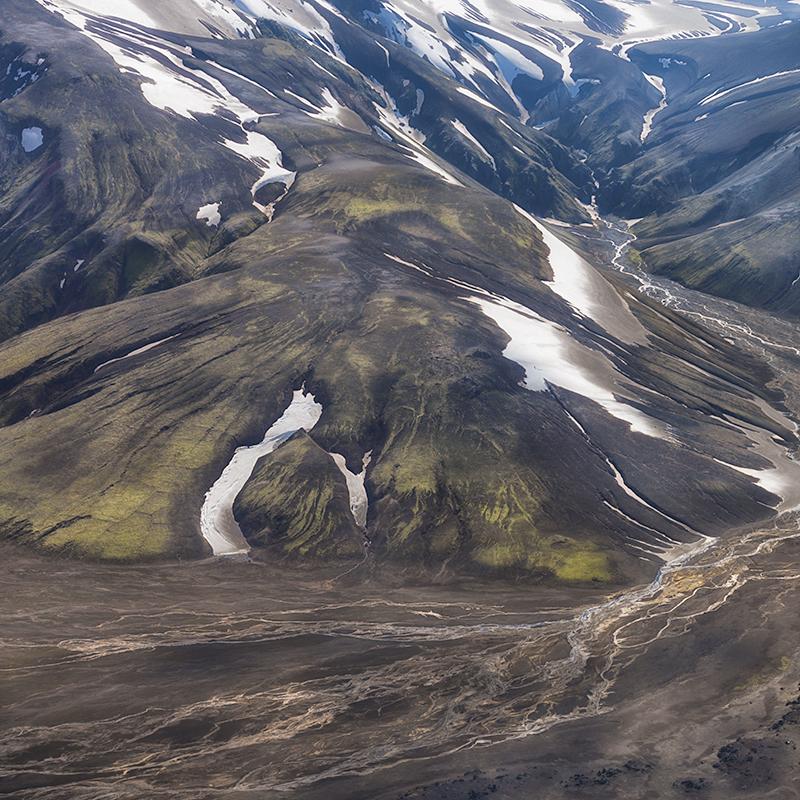 Landmannalaugar aerial study #3 - Iceland Highland Aerials