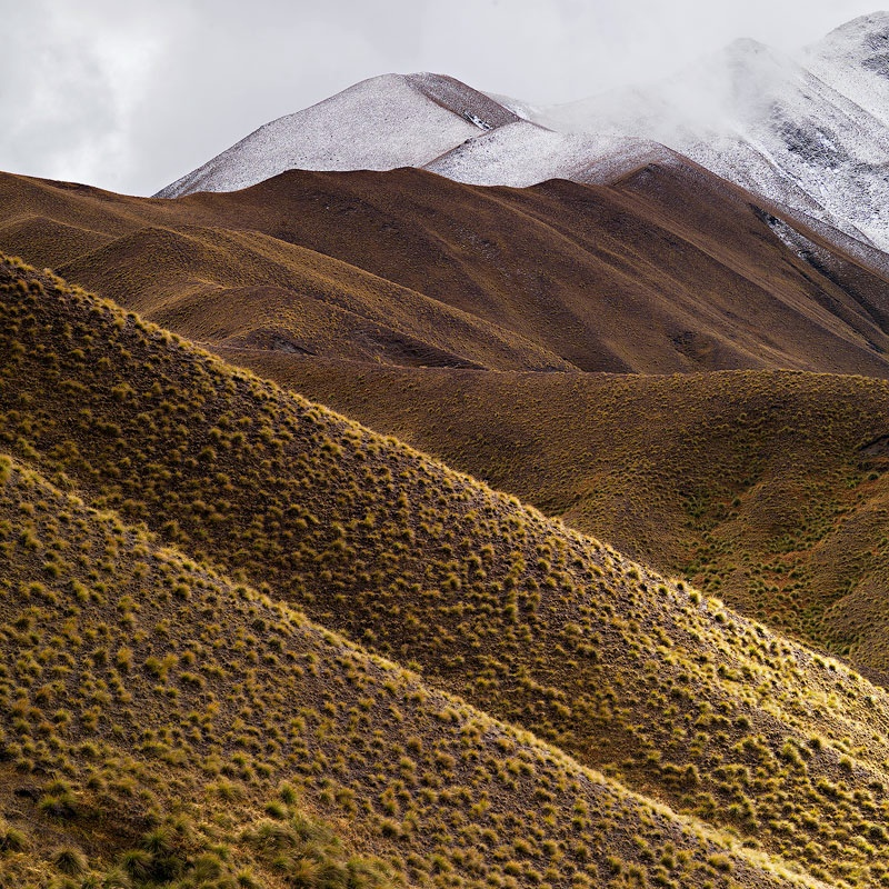 Lindis Pass Lines - New Zealand