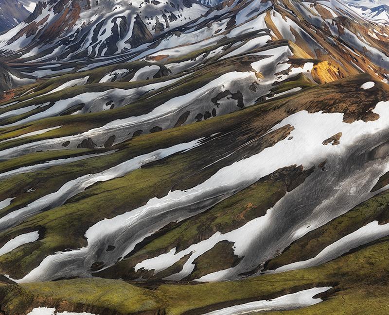Landmannalaugar aerial study #1 - Iceland Highland Aerials