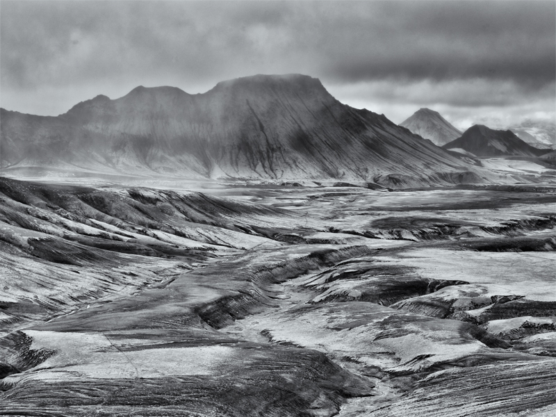 Reykjadalur Mist - Black and White