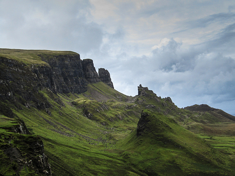 Scottish landscape photography of the Quiraing on the Isle of Skye