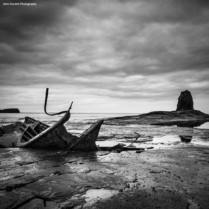 Yorkshire - The UK Coast - monochrome