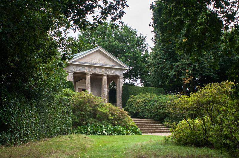 Norfolk landscape photograph of Blicking Summer house in the gardens of Blickling Hall