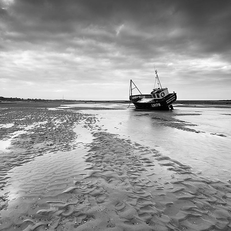 Brancaster Staithe - Norfolk Coast - monochrome