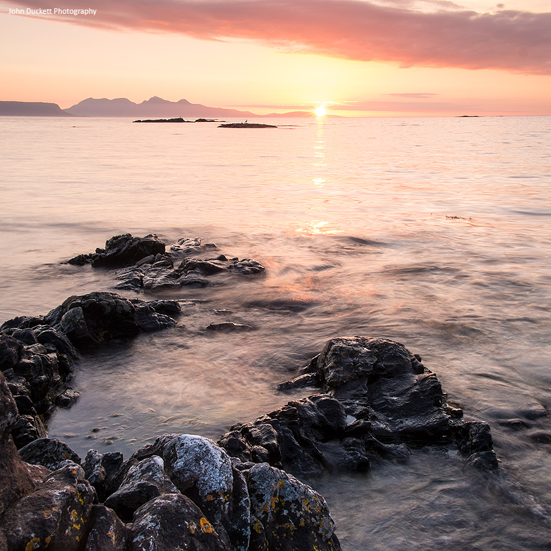 Scotland landscape photograph of a sunset from Back of Keppoch, Arisaig