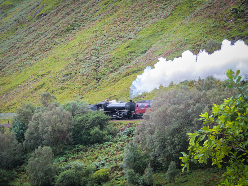 Photography of the Jacobite steam train on the West Highland Way