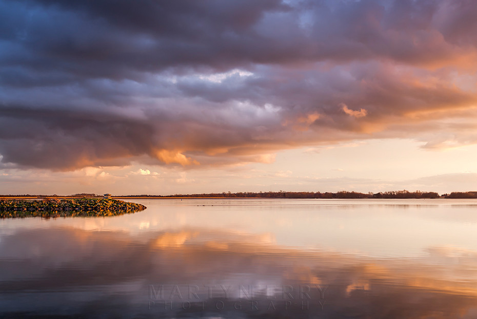 Grafham Water under a beautiful sunset