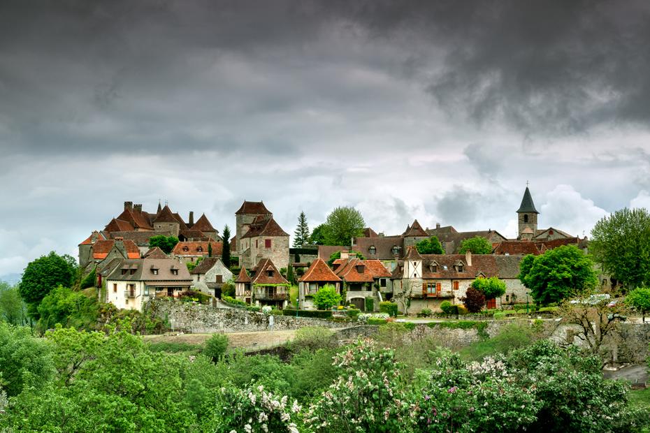 Stunning medieval village of Loubressac in the Dordogne