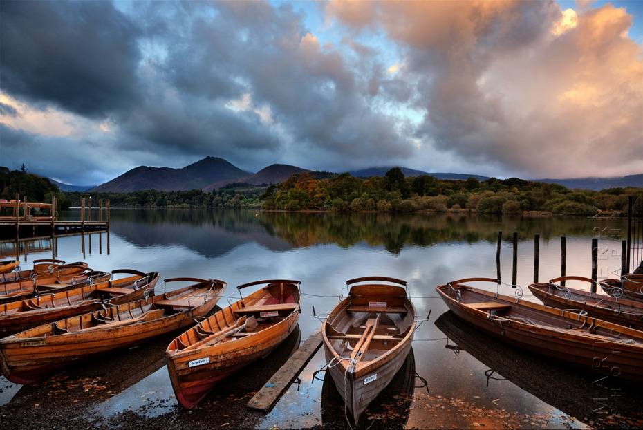 Incredible sunrise colours over Derwentwater