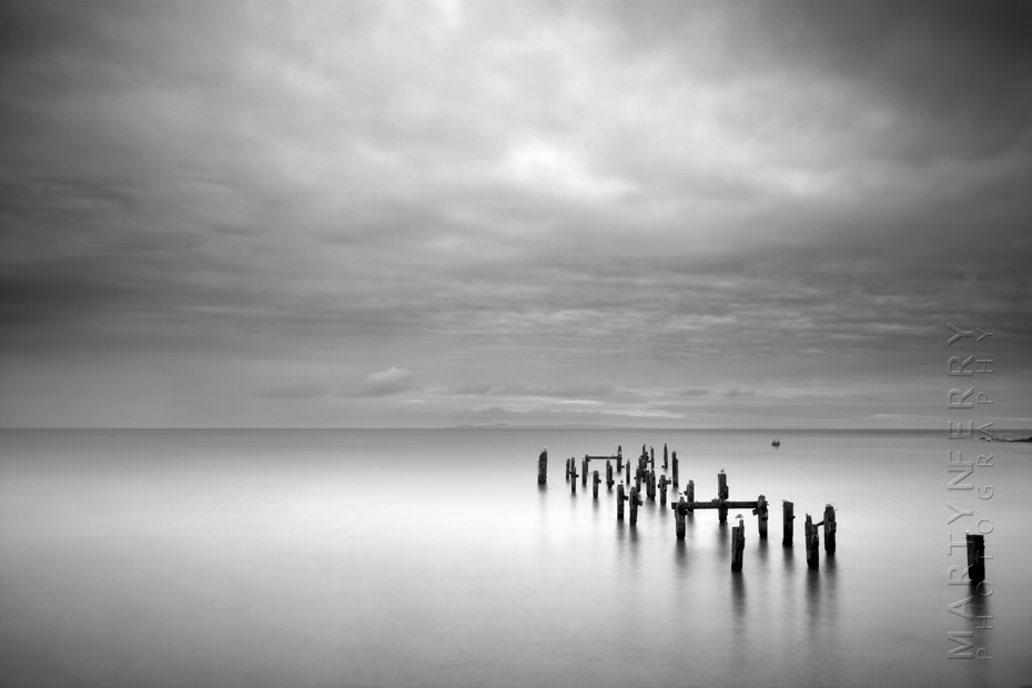 Beautiful photo of Swanage old pier in black and white