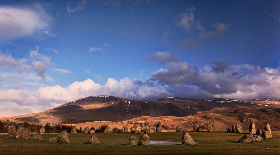 Spring landscape at Castlerigg Stone Circle