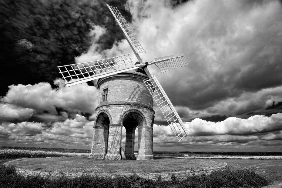 Dramatic clouds over Chesterton Windmill in Warwickshire