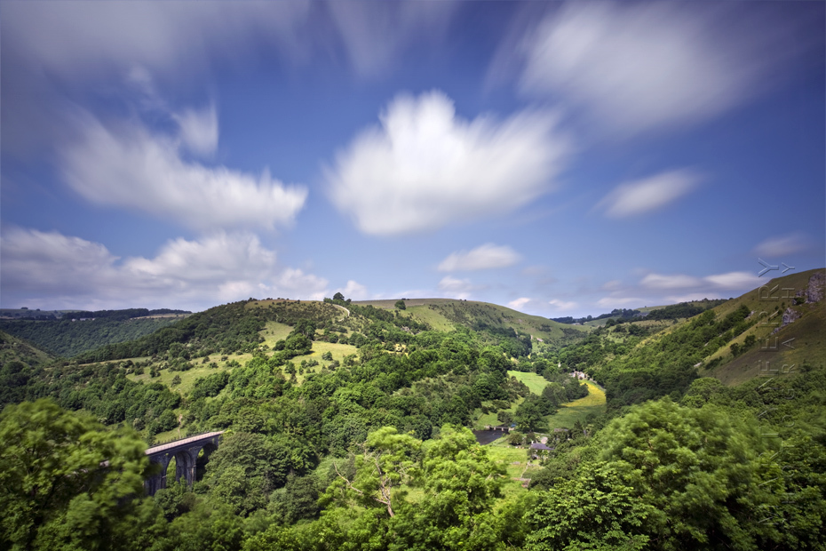 Beautiful Monsal Head under moving clouds