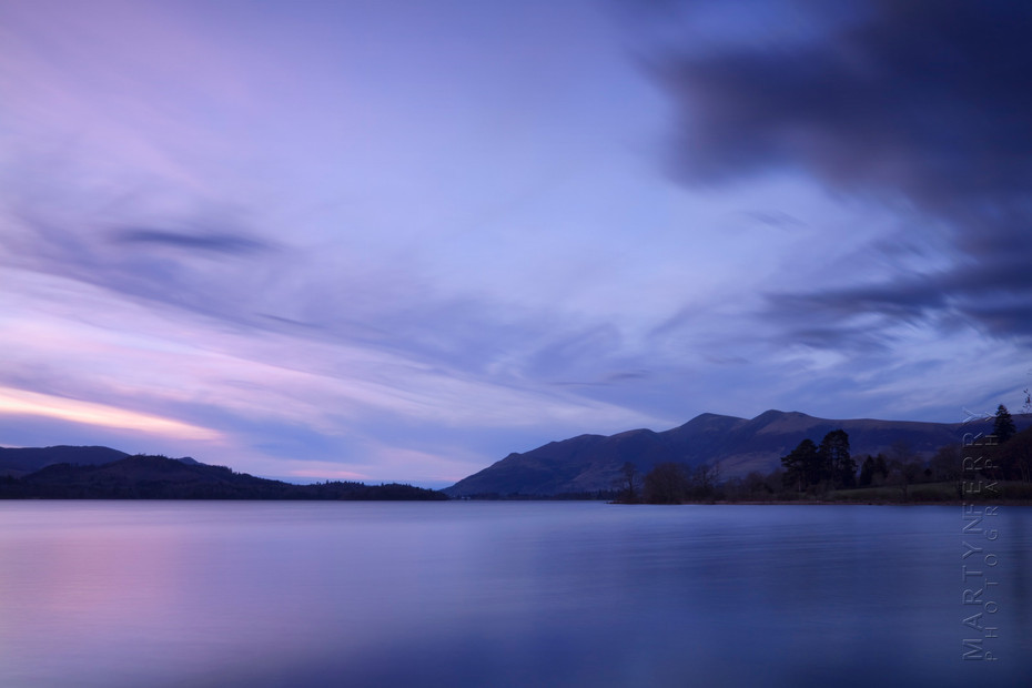 Sunset colours over Derwentwater