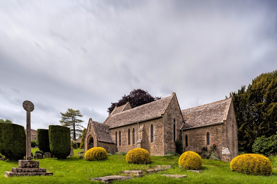 St. Peter's Church in the Cotswold village of Duntisbourne Abbots