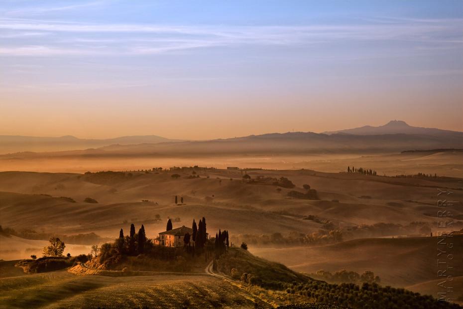 Belvedere in Morning Sun - Italy