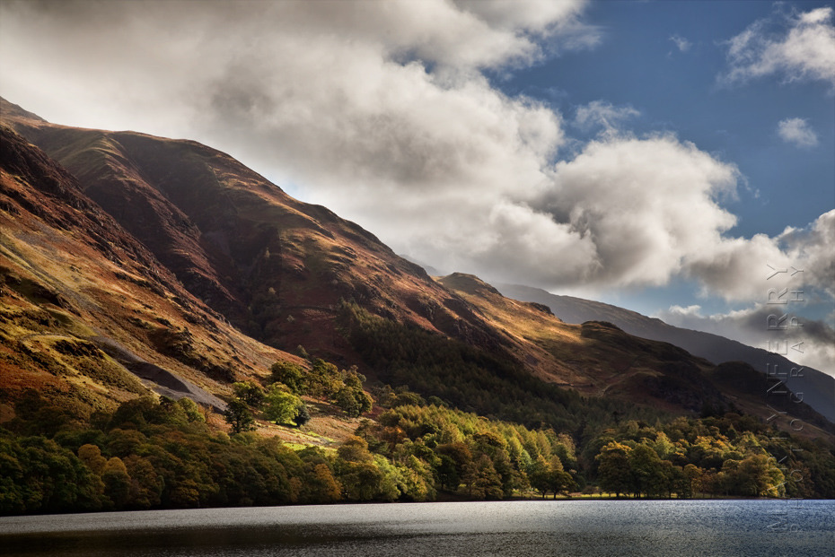 Buttermere Fell in the warm sunlight