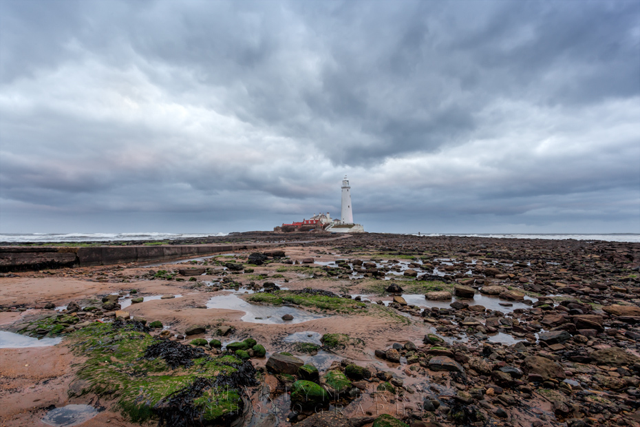 Clouds gather over St Mary's Lighthouse