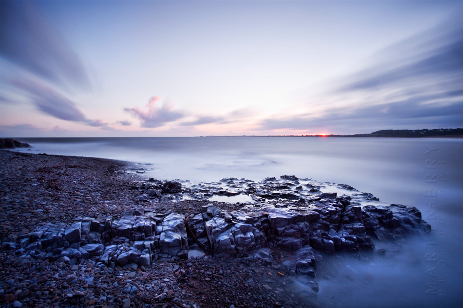 Colourful ocean image at Ogmore by Sea photographed at sunset