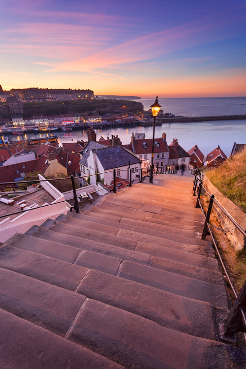 199 steps in Whitby at sunset