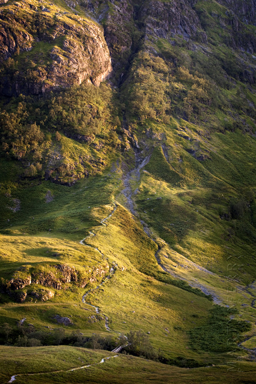 Photograph of hiking trail in the Three Sisters in Glen Coe