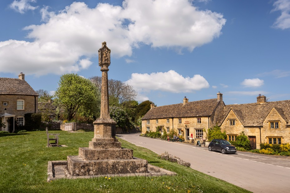 War memorial in the Cotswolds village of Guiting Power